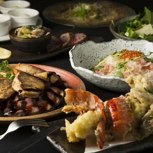 ◆特別な会食やご接待に◆オマール海老やサーロイン・フォアグラなど3時間飲み放題付【料理長お勧め新年会プラン】
